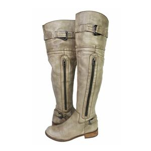 Steve Madden Sabra Over the Knee Leather Boots 7.5